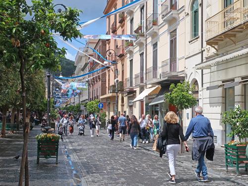 Corso Italia Main Street In Sorrento Italy