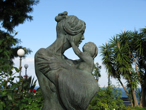 Sculpture in Sorrento Italy