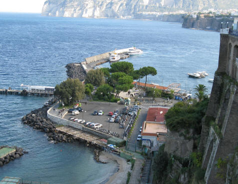 Ferry and Hydrofoil Terminal in Sorrento Italy
